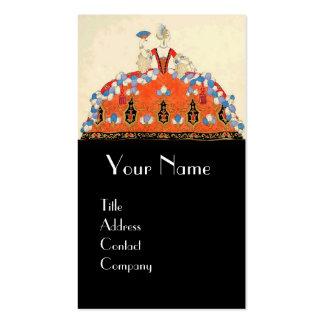 LADY ORANGE FASHION COSTUME DESIGNER MAKEUP ARTIST Double-Sided STANDARD BUSINESS CARDS (Pack OF 100)
