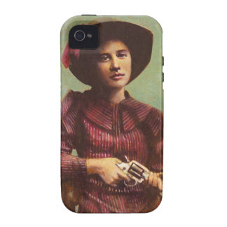 Lady outlaw iPhone Case-Mate Tough iPhone 4 Cover