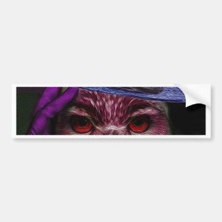 Lady Owl Bumper Sticker