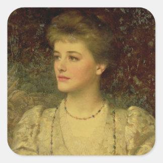 Lady Palmer Square Sticker