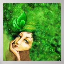 Lady Papilionem Art Poster