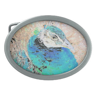 Lady Peacock Bird Belt Buckle