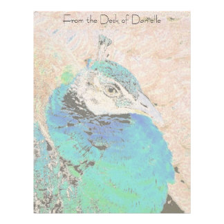 Lady Peacock Personalized Letterhead