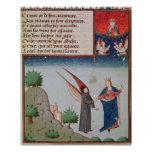 Lady Philosophy leads Boethius in flight Poster