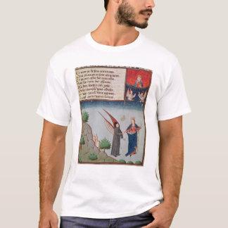 Lady Philosophy leads Boethius in flight T-Shirt