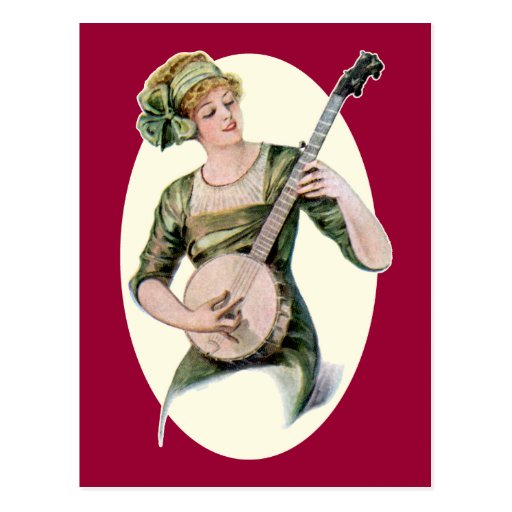 Lady Player  Postcard