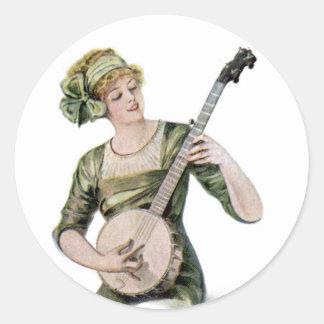 Lady Player Sticker