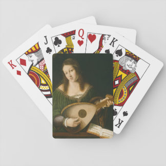Lady Playing a Lute Card Deck