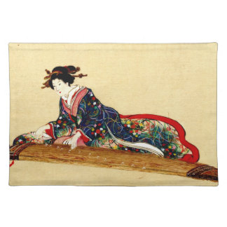Lady Playing Koto 1878 Cloth Placemat