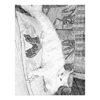 Lady Princess Kittie Lounging Sketch Letterhead