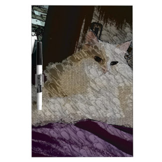 Lady Princess Kitty Canvas Painting Dry-Erase Board