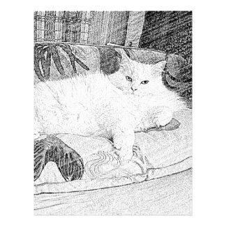 Lady Princess Kitty Lounging Sketch Letterhead