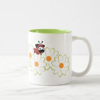 Lady Pug Mug (White&Green Flowers)