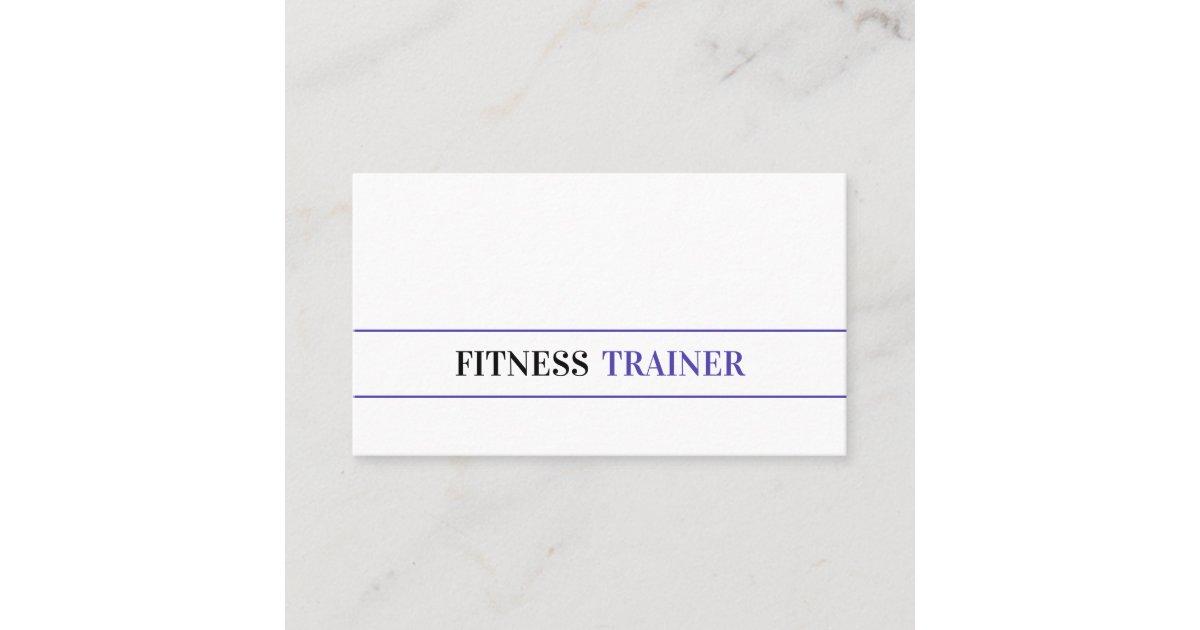 Lady Purple Fitness Black Plain White Background Business Card Zazzle Com