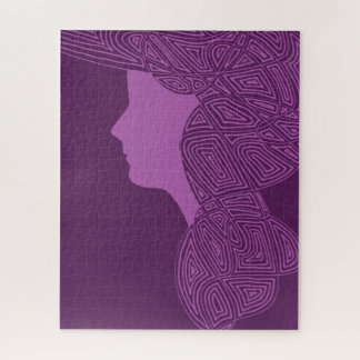 Lady Purple Jigsaw Puzzle