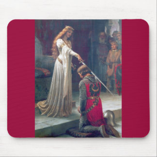 Lady queen knighting knight antique painting mouse pad