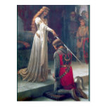 Lady Queen Knighting Knight Antique Painting Postcard at Zazzle
