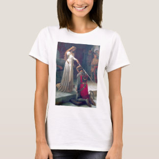Lady queen knighting knight antique painting T-Shirt