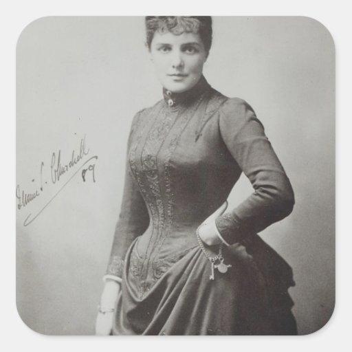 Lady Randolph Churchill Square Sticker