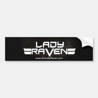 Lady Raven Bumper Sticker Car Bumper Sticker