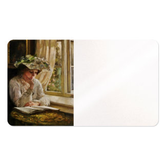 Lady Reading by a Window Double-Sided Standard Business Cards (Pack Of 100)