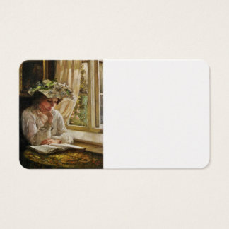 Lady Reading by a Window Business Card