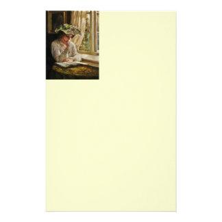 Lady Reading by Window Stationery