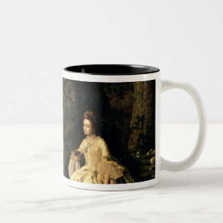 Lady reading in a Park, c.1768-70 Two-Tone Coffee Mug