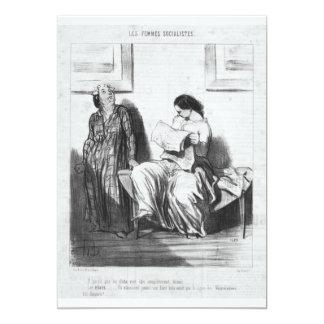 Lady Reading Newspaper Card