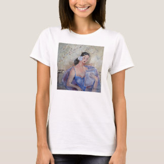 Lady Reading t-shirt designed by Marie Theron