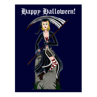 Lady Reaper 2 Postcard
