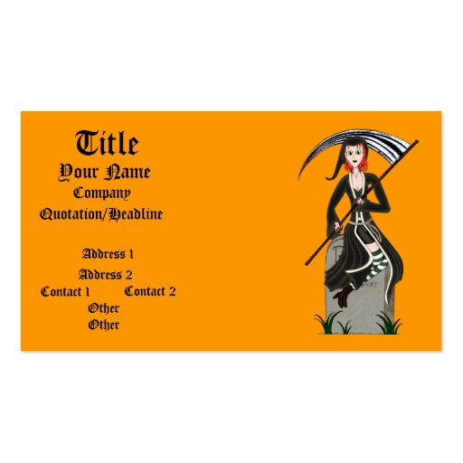 Lady Reaper Business Card