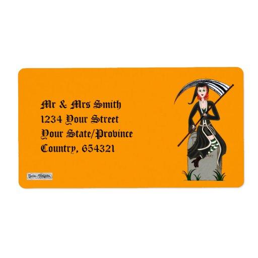 Lady Reaper Custom Shipping Label