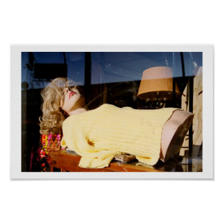 Lady Reclining Poster