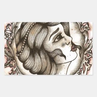 Lady Rectangular Sticker