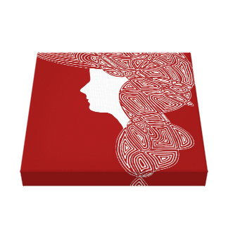Lady Red Gallery Wrapped Canvas