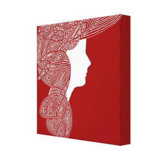 Lady Red Canvas Prints