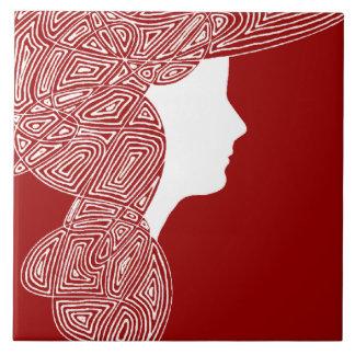 Lady Red Ceramic Tiles