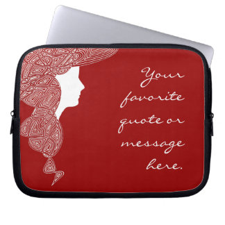 Lady Red Customized Laptop Sleeves