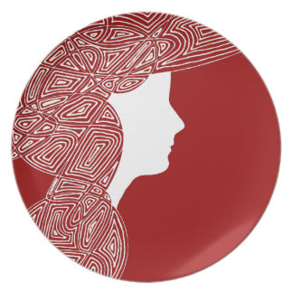Lady Red Dinner Plate