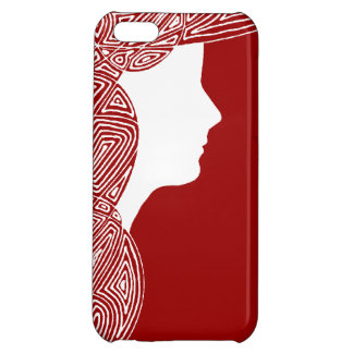 Lady Red Cover For iPhone 5C