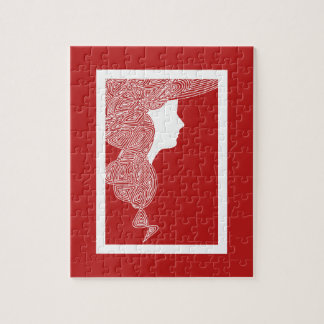Lady Red Jigsaw Puzzle