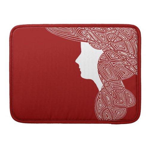 Lady Red MacBook Pro Sleeves