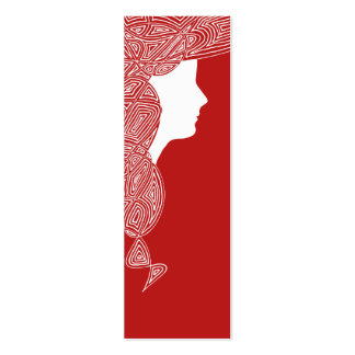 Lady Red Mini Bookmarks Double-Sided Mini Business Cards (Pack Of 20)