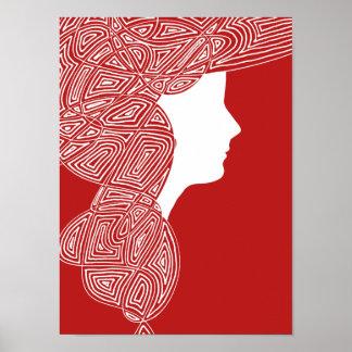 Lady Red Print