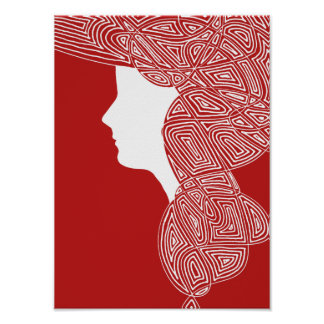 Lady Red Posters