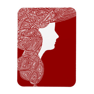 Lady Red Rectangular Magnets