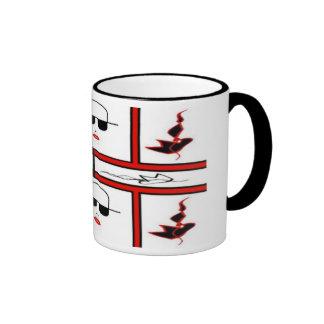 lady red ringer coffee mug