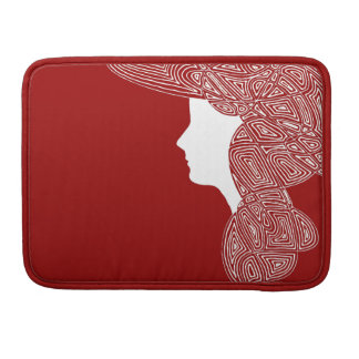 Lady Red Sleeve For MacBooks