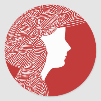 Lady Red Stickers